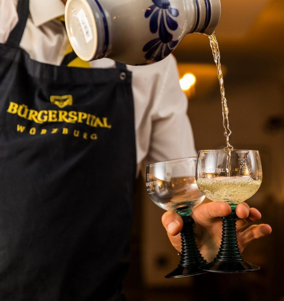 Service im Restaurant Bürgerspital in Würzburg