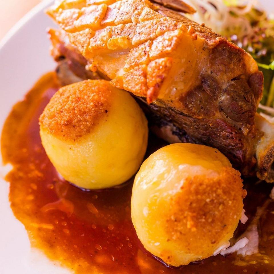 Schäufele im Restaurant in Würzburg